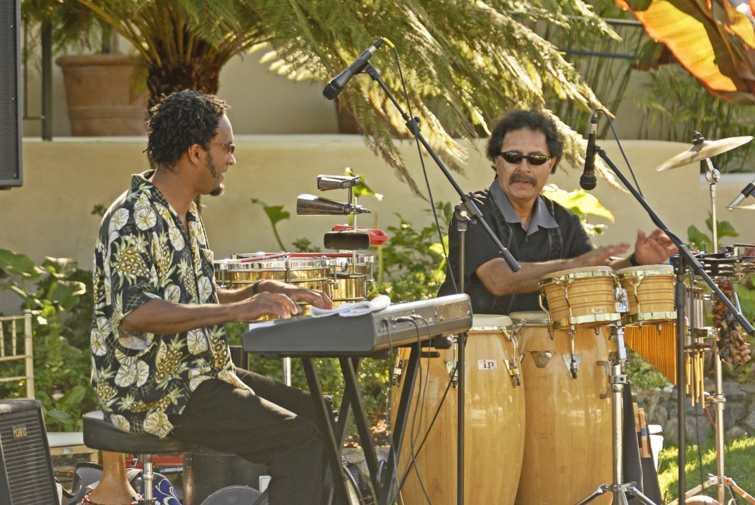 Allan Phillips, keys & Roy Gonzales, percussion